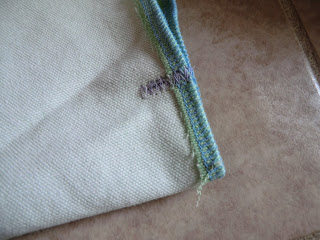 Sew a zig zag hem over this folded fabric line for a sturdy edge
