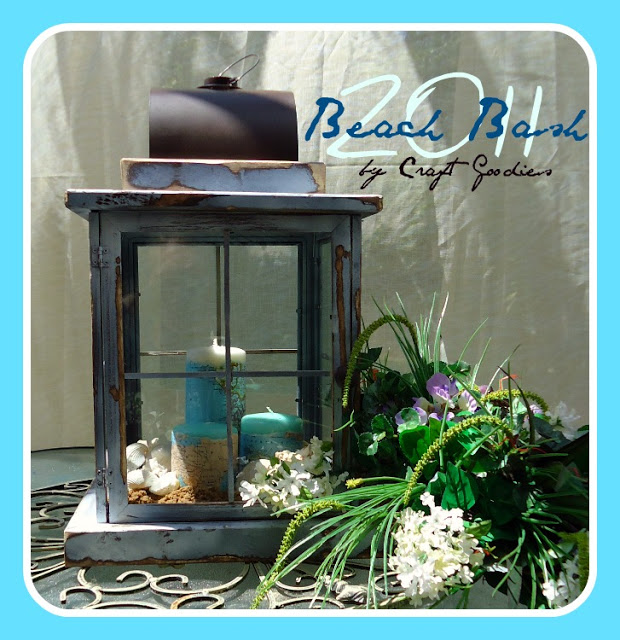 how to make a beach lantern from dollar store supplies