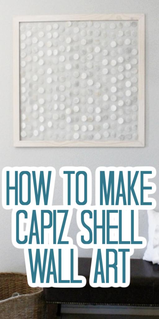 how to make capiz shell wall art