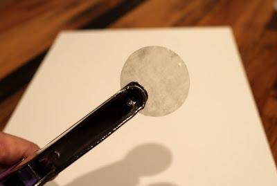 using a hole punch on fake capiz shells