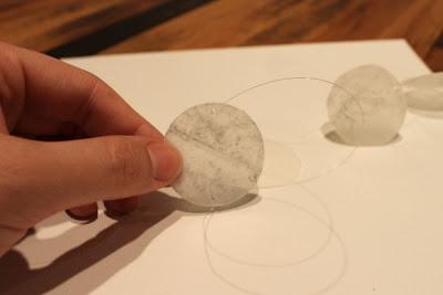 stringing shells for capiz wall art