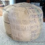 DIY Coffee Bag Pouf Beanbag-1