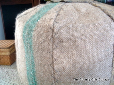 Make your own pouf ottoman hint coffee sack home decor make your own pouf ottoman hint coffee sack home decor the country chic cottage solutioingenieria Gallery