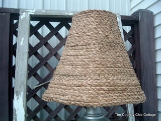 Ballard Designs Knock Off {Seagrass Lamp Shade}