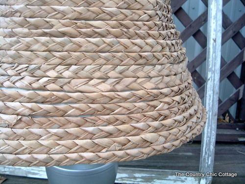 Ballard designs knock off seagrass lamp shade the country chic a few shows on the diy network and some patiencei have a woven seagrass lamp shade aloadofball Images