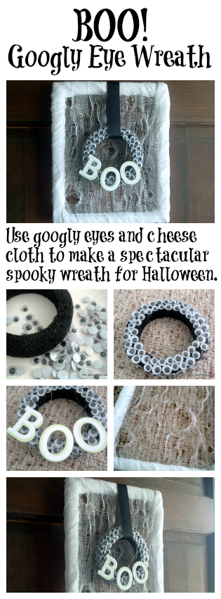 Make this fun Halloween wreath in just minutes!