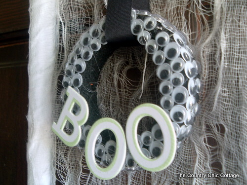 Halloween Wreath made with Eyes