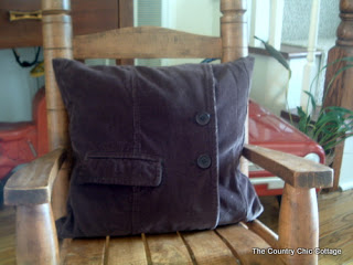 Courdoroy Pillow from a JACKET!