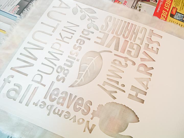 thanksgiving stencil cut on a cricut