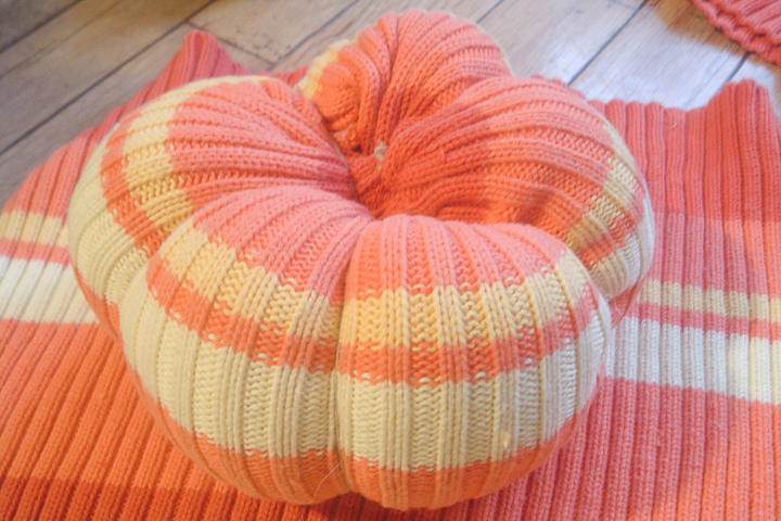 segmented sweater pumpkin