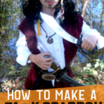 Make this Jack Sparrow Halloween costume with just a few thrift store finds! This kids Halloween costume is budget friendly and oh so cute! #halloween #halloweencostume #jacksparrow #pirates