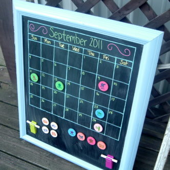 Magnetic Chalkboard Calendar — Make your Own!