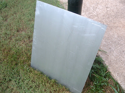 A metal sheet that we will use to make our magnetic chalkboard calendar