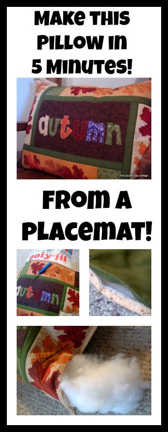 make a pillow from a placemat