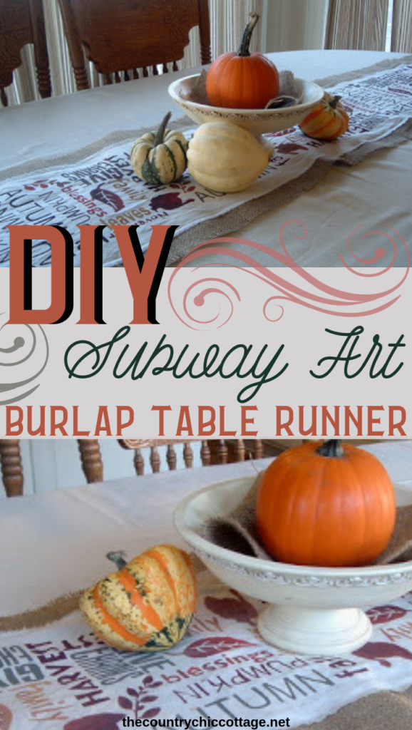 Make this DIY burlap table runner with a few paints and your Cricut machine! An easy addition to your Thanksgiving table that everyone will love! #burlap #cricut #cricutmade #cricutcreated #thanksgiving #fall