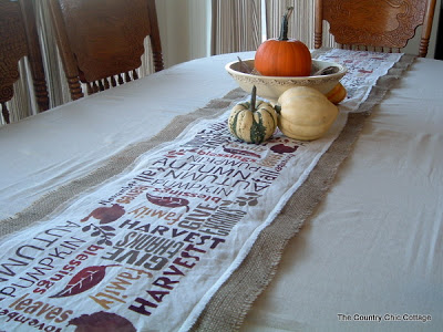table runner for fall