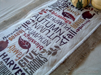table runner for thanksgiving