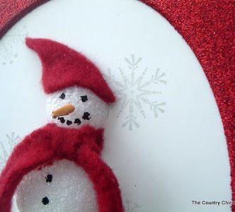 3D Snowman Art with Krylon Glitter Blast