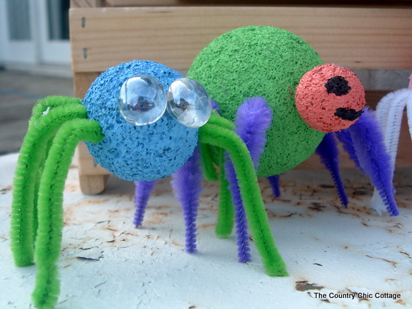 Styrofoam Spiders Kids Craft The Country Chic Cottage
