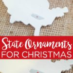 State Christmas ornaments are a great way to decorate your tree and make great gifts! See how to make a state heart ornament here! #christmas #christmasornament #ornaments #paint #painting #giftidea #state #unitedstates #heart #love #home