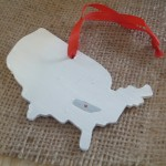 These state love ornaments are perfect for hanging on your tree and giving for Christmas gifts!