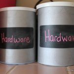 Repurpose old food containers into organizational storage containers in just minutes!