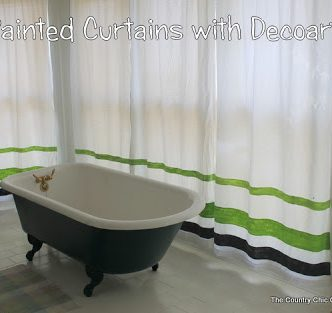 Striped Curtains with Decoart