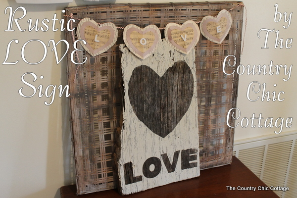Rustic Love Sign From Barnwood The Country Chic Cottage