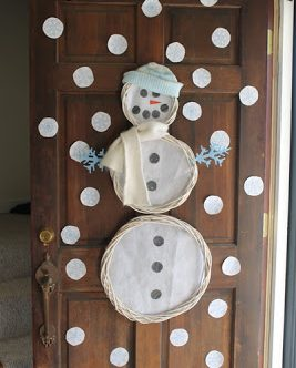 Snowman Wreath Door Art — with The Graphics Fairy