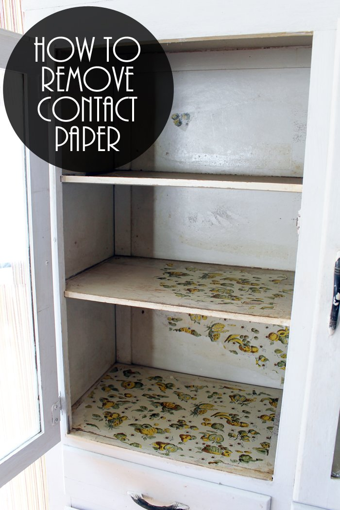 how to remove contact paper in minutes the country chic cottage. Black Bedroom Furniture Sets. Home Design Ideas