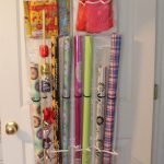 wrapping paper organizer over the door