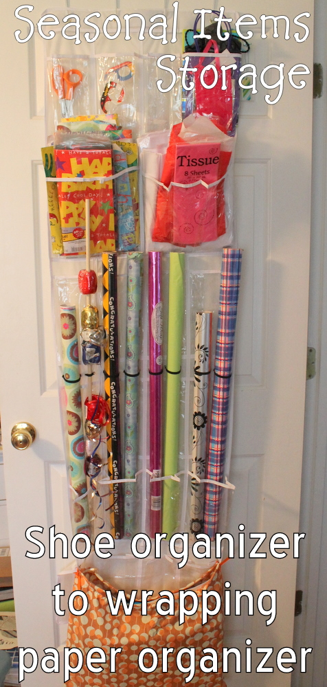 You Can Take A Plain Over The Door Shoe Organizer And Make A Wrapping Paper  Organizer In Just A Few Minutes. Ready To Make Your Own?