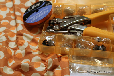 grommet kit and fabric
