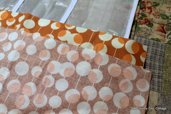 Creating finished edge with fabric