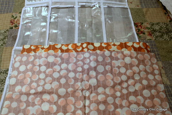 fabric inside out to sew finished edge
