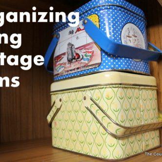 Organizing Using Vintage Items