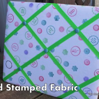 Hand Stamped Fabric {Make Your Own DIY}