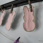 Make this rustic peeps bunny garland in minutes!