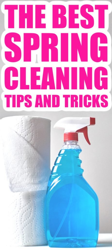 Get our best spring cleaning tips and tricks! Use these to clean your home smarter and faster this year for an amazingly clean home all year long! #springcleaning #cleaning #clean