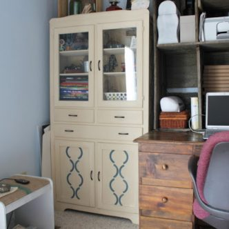 Paint and Stencil a Vintage Cabinet