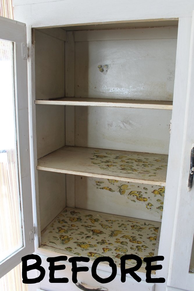 Chalk Paint And Refinishing A Vintage Cabinet The Details Country Chic Cottage