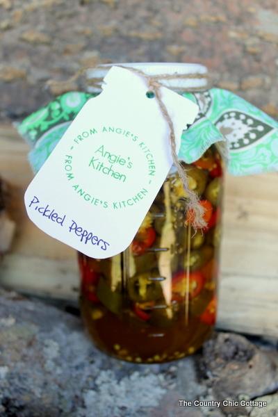 mason jar food labels