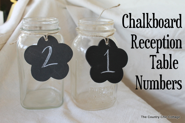 Chalkboard Tag Wedding Reception Table Numbers The Country Chic Cottage