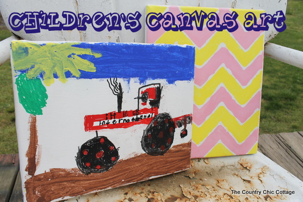 rainy day kids craft canvas art