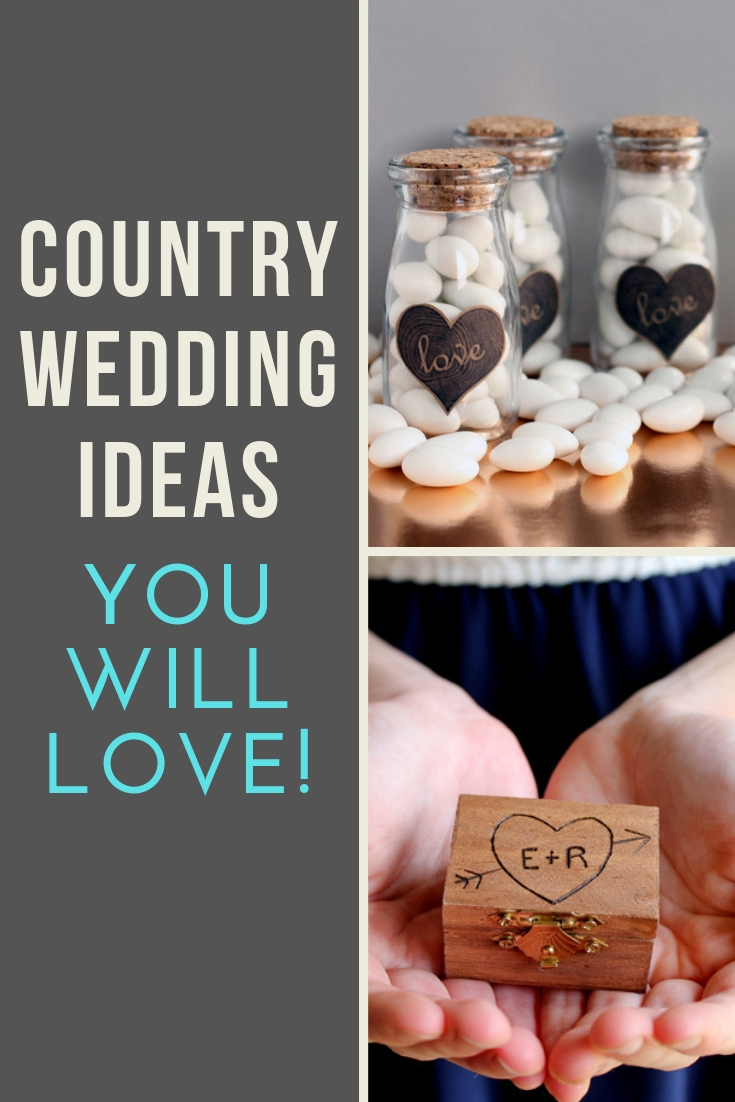 Use these country wedding ideas to plan the wedding of your dreams! #wedding #rustic #country