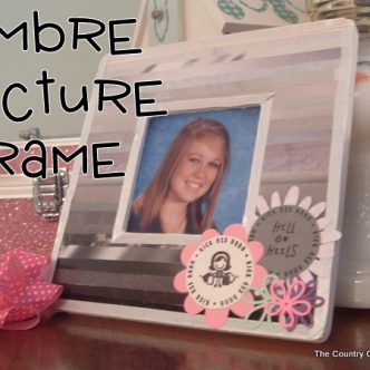 Ombre Picture Frame from Recycled Magazines