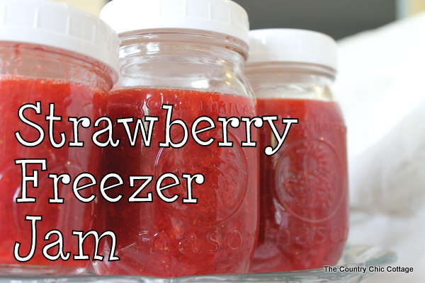 Strawberry Freezer Jam - The Country Chic Cottage