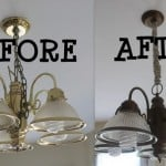 before and after of light fixtures
