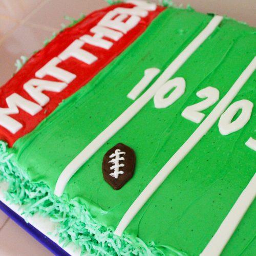 how to make a football cake