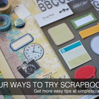 Easy Ways to Start Scrapbooking